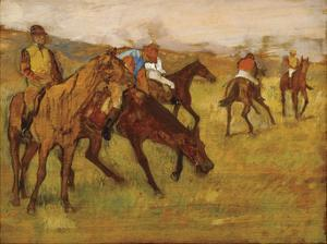 Before the Race, between 1882 and 1884 by Edgar Degas