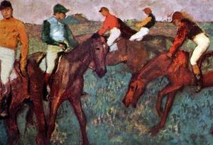 Edgar Degas Before the Start Art Print Poster