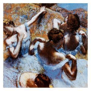Blue Ballerinas by Edgar Degas