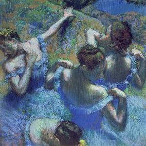 Blue Dancers, circa 1899 by Edgar Degas
