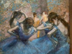 Blue dancers (detail). Around 1893-96. Oil on canvas. by Edgar Degas