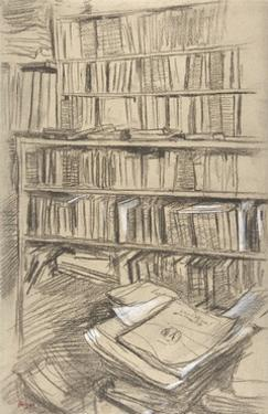 Bookshelves by Edgar Degas