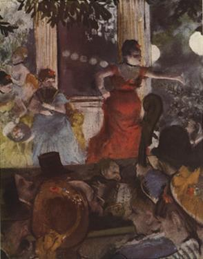 Cafe Concert: At Les Ambassadeurs by Edgar Degas