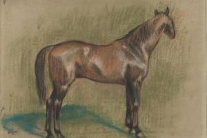 Cheval tourné vers la droite by Edgar Degas