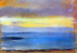 Edgar Degas Coastal Strip at Sunset Art Print Poster
