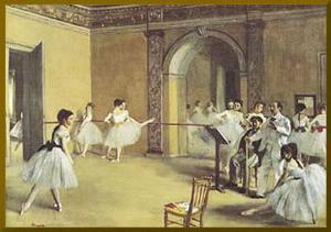 Dance Foyer at the Opera - Gold Trim by Edgar Degas