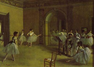 Dance Foyer at the Opera by Edgar Degas