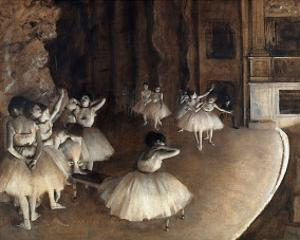 Dance Rehearsal, c.1874 by Edgar Degas