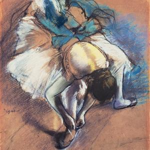 Dancer Fastening Her Pump, C.1880-85 by Edgar Degas