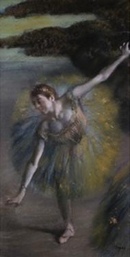 Dancer in Green by Edgar Degas