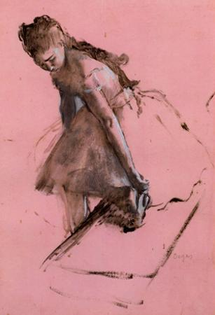 Edgar Degas Dancer Slipping on her Shoe Art Print Poster