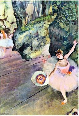 Edgar Degas Dancer with a Bouquet of Flowers Art Print Poster