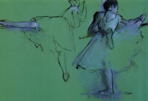 Edgar Degas Dancers at the Barre Art Print Poster