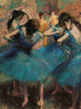 Dancers in Blue (Danseuses Bleues) by Edgar Degas