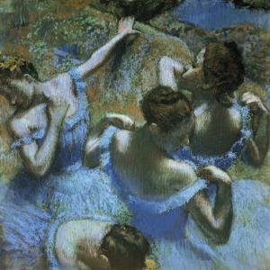 Dancers in Blue by Edgar Degas