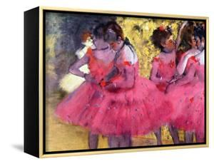 Dancers in Pink, Between the Scenes by Edgar Degas