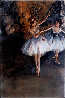 Edgar Degas Dancers On Stage Danseuses Sur Scene Print Poster