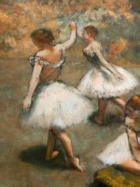 Dancers on the stage (detail). Around 1889-1894. Oil on canvas. by Edgar Degas