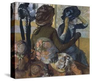 Dans la chapellerie, 1882 by Edgar Degas