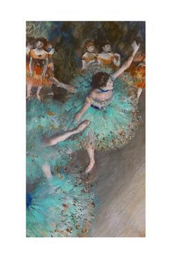 Danseuse verte (Green dancer) Pastel and gouache on paper, 1877-1879 64 x 36 cm . by Edgar Degas
