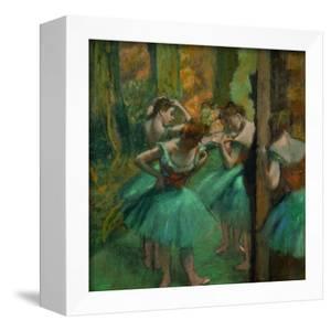 Danseuses en rose et vert-Pink and green dancers, around 1890. Canvas,82,2 x 75,6 cm. by EDGAR DEGAS