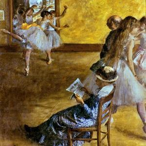 Degas: Ballet Class, C1878 by Edgar Degas
