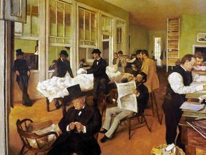 Degas: Cotton Office, 1873 by Edgar Degas