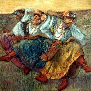 Degas: Dancing Girls, C1895 by Edgar Degas