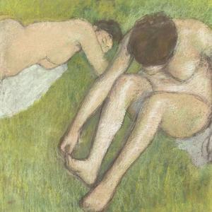 Deux baigneuses sur l'herbe by Edgar Degas