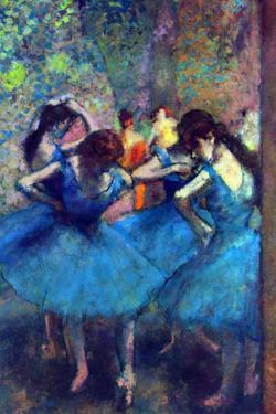 Edgar Degas Dancers Plastic Sign by Edgar Degas