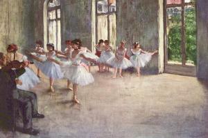 Edgar Germain Hilaire Degas (Ballet rehearsal) by Edgar Degas
