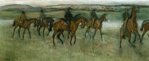 Exercising Racehorses, C1880 by Edgar Degas