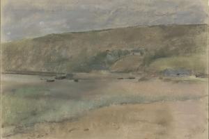 Falaises au bord de la mer : plage de Beuzeval by Edgar Degas