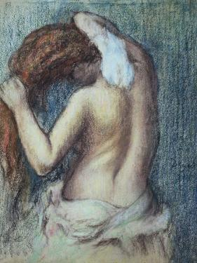 Femme a Sa Toilette, C.1895 (Pastel on Paper) by Edgar Degas