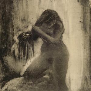 Femme, nue, se coiffant by Edgar Degas