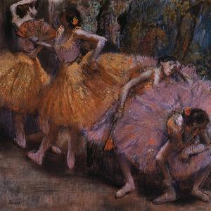 Four Ballerinas Resting by Edgar Degas