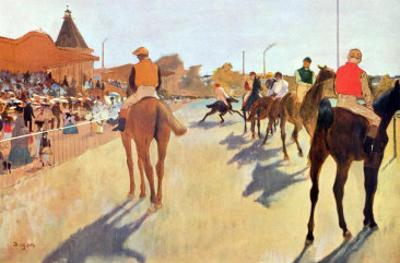 Grand Stand by Edgar Degas