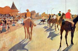 Grand Stand by Edgar Degas