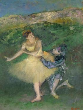 Harlequin and Colombine, circa 1886-1890 by Edgar Degas