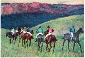 Edgar Degas Horse Racing The Training Art Print Poster
