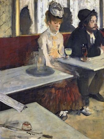 In a Cafe, or the Absinthe, c.1875-76 by Edgar Degas