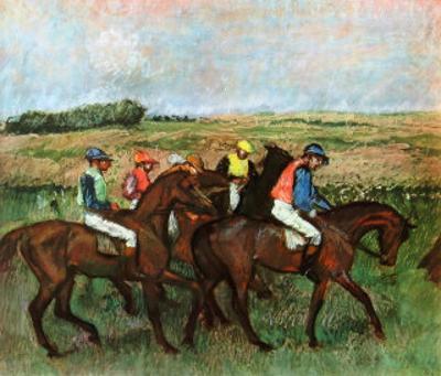 Jockeys at Training by Edgar Degas
