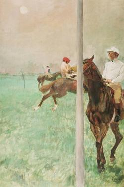 Jockeys before the Race, C.1878-79 by Edgar Degas