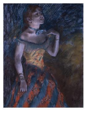 La Chanteuse verte by Edgar Degas