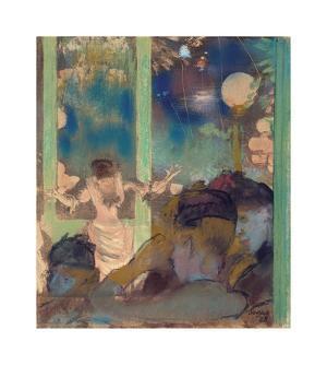 Mademoiselle Becat at the Cafe des Ambassadeurs, 1877-85 by Edgar Degas