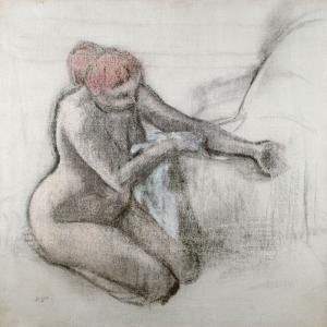 Nude Woman Drying Herself after the Bath, C.1898 by Edgar Degas