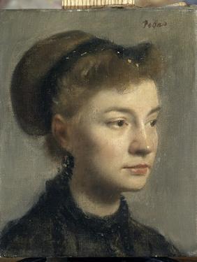 Portrait de jeune femme by Edgar Degas