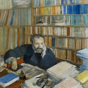 Portrait of Edmond Duranty, 1879 by Edgar Degas