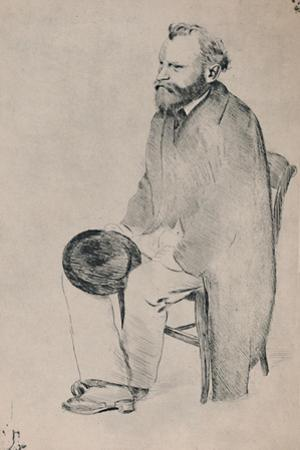 'Portrait of Manet Seated', c.1865, (1946) by Edgar Degas