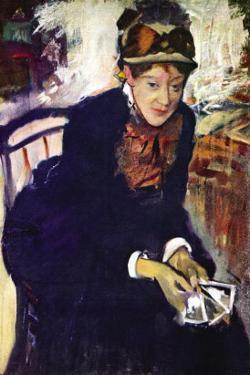 Portrait of Miss. Cassatt by Edgar Degas